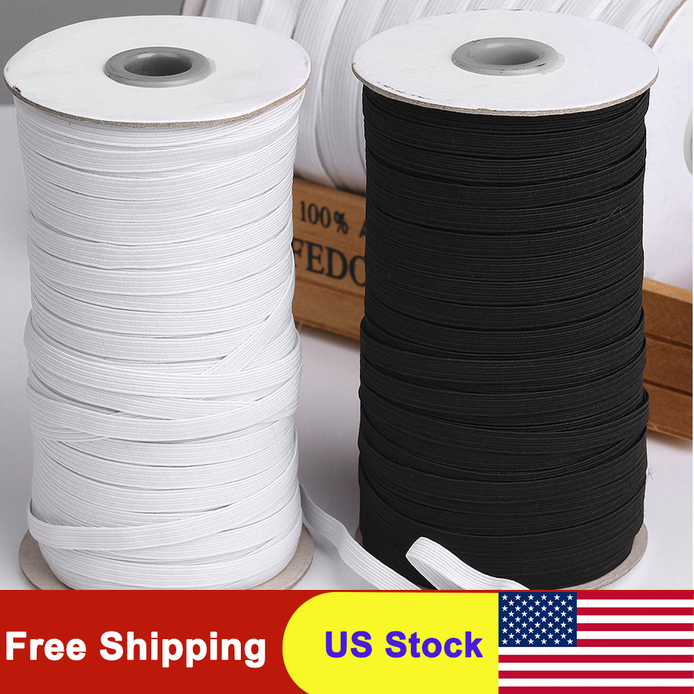 45/75/100/125/144 Yards 5mm Elastic Band For Mask/Elastic Rope/Heavy Stretch Knit Elastic Spool For Sewing Crafts DIY Handmade