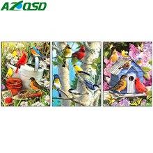 AZQSD Diamond Painting 5d Birds Embroidery Scenery Needlework Picture Of Rhinestones Cross Stitch Full Drill Home Decor Gift printio графическая мозаика