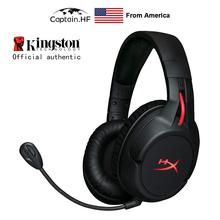 US Captain Hyper X Cloud Flight bezprzewodowe profesjonalne słuchawki dla graczy na PC i laptopy tanie tanio Captain HF Dynamiczny wireless 45dB Typ linii Do 32 Ω 3 5mm ADS1032 Usytuowaną częściowo na świeżym powietrzu VELOUR