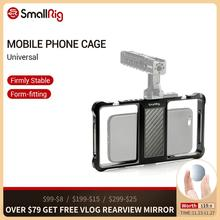 SmallRig Standard Universale Del Telefono Mobile Gabbia Vloggers Riprese Video Del Telefono Accessori Gabbia Con Fredda Shoe Mount  2391