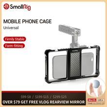SmallRig סטנדרטי אוניברסלי נייד טלפון כלוב Vloggers וידאו ירי טלפון כלוב אביזרי עם קר נעל הר 2391