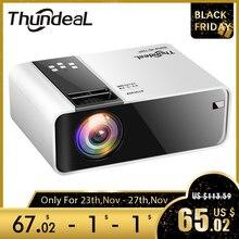ThundeaL TD90 miniprojektor z natywną rozdzielczością 720P, przenośny projektor 3D z Androidem, Wi Fi, Bluetooth, na imprezę, przenośne kino domowe