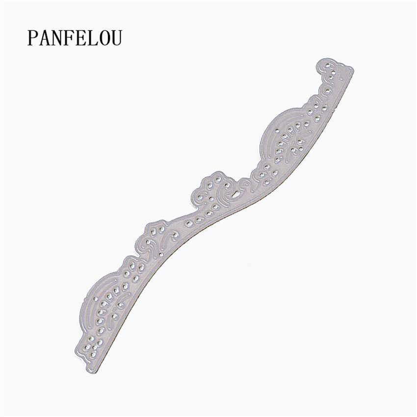 Panfelou 11X1.5 Cm Romantis Renda Kerajinan Logam Baja Karbon Cutter Kertas Die Cutting Dies Scrapbooking/DIY Embossing kartu