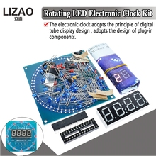 DS1302 Rotating LED Display Alarm Electronic Clock Module DIY KIT LED Temperatur