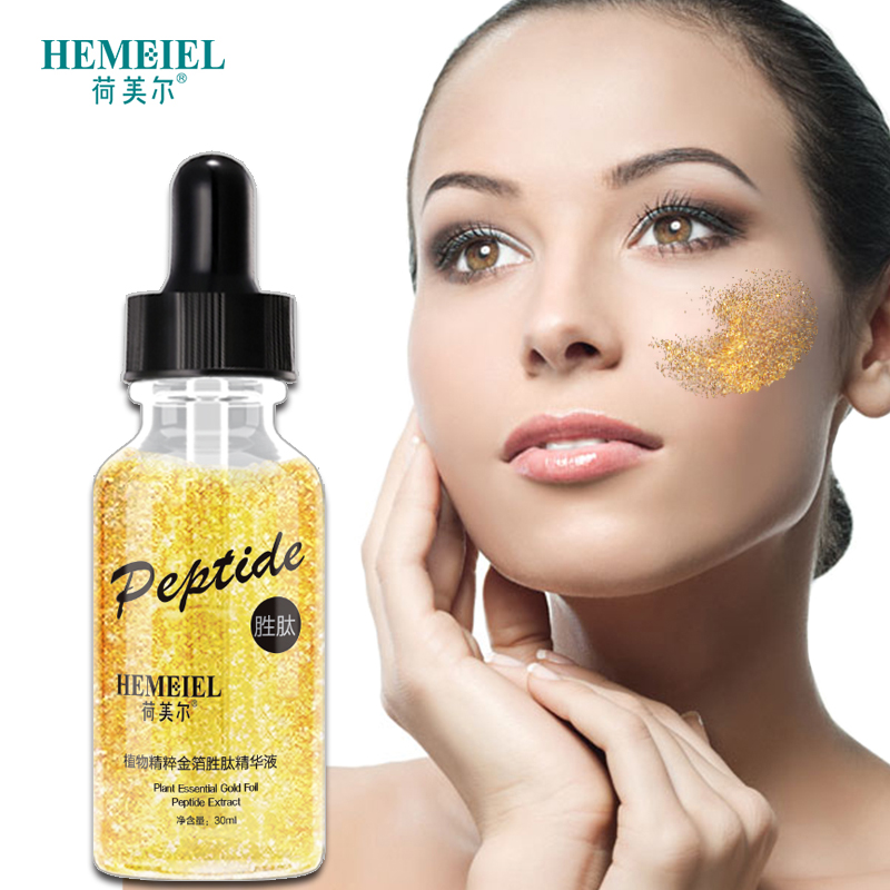 HEMEIEL 24K Gold Peptide Face Serum Anti Aging Wrinkle Removal Whitening Facial Essence Skin Care Nature Herb Cream Korea Beauty