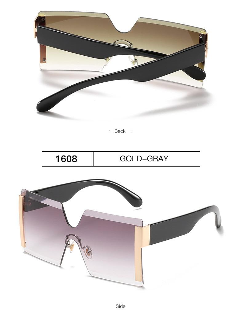 Luxury Brand Women's Sunglasses Square Sunglass Lady Designer 2021 trend Cool Vintage Retro Sun Glasses Rimless Shades For Women (10)
