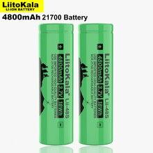 2 قطعة LiitoKala Lii 48S 3.7 فولت 4800 مللي أمبير 21700 بطارية 9.6A الطاقة 2C معدل تفريغ بطاريات ليثيوم ثلاثية لتقوم بها بنفسك دراجة كهربائية
