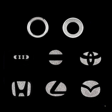 Car steering wheel logo diamond sticker For Honda Toyota Lexus Mazda Hyundai Volvo interior decoration stickers Auto Accessories