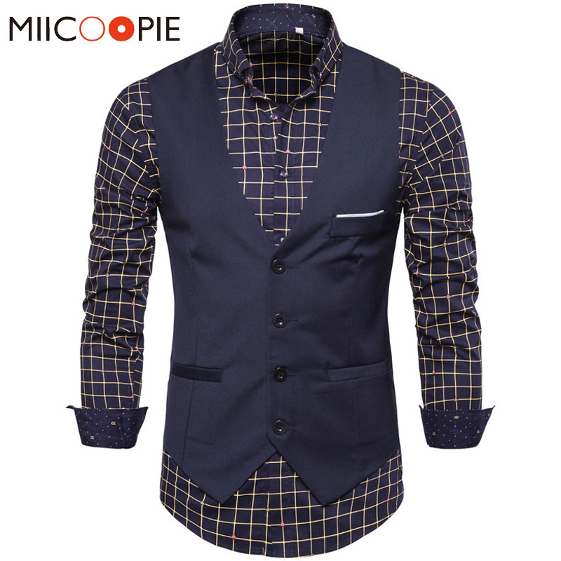 Fashion Korean Style Slim Fit Chalecos Para Hombre Single Breasted Waistcoat Vest Jacket Men Spring Business Prom Gilet Homme