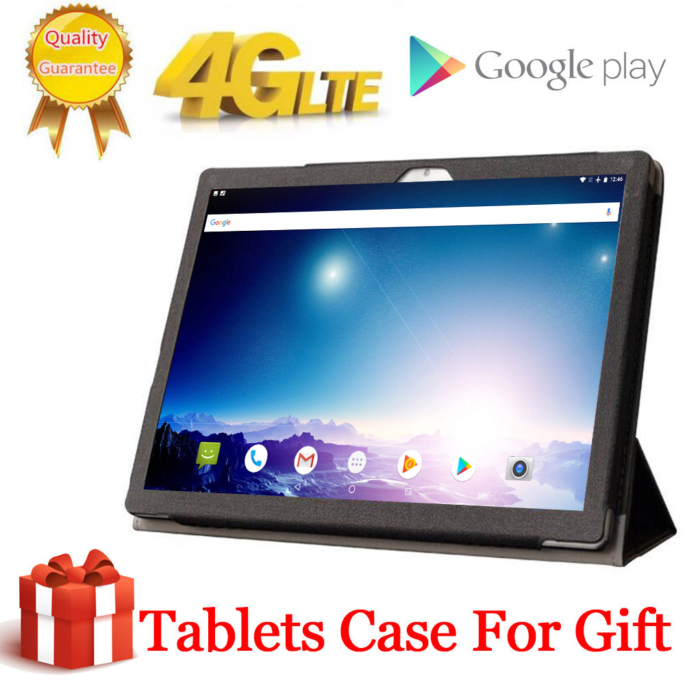 2020 Free Gift Case Tabletr 1920X1200 4G LTE 10.1 Inch 2.5D Tablet Pc 10 Deca Core MTK6797 8GB RAM 128GB ROM Android 9.0 MT6797