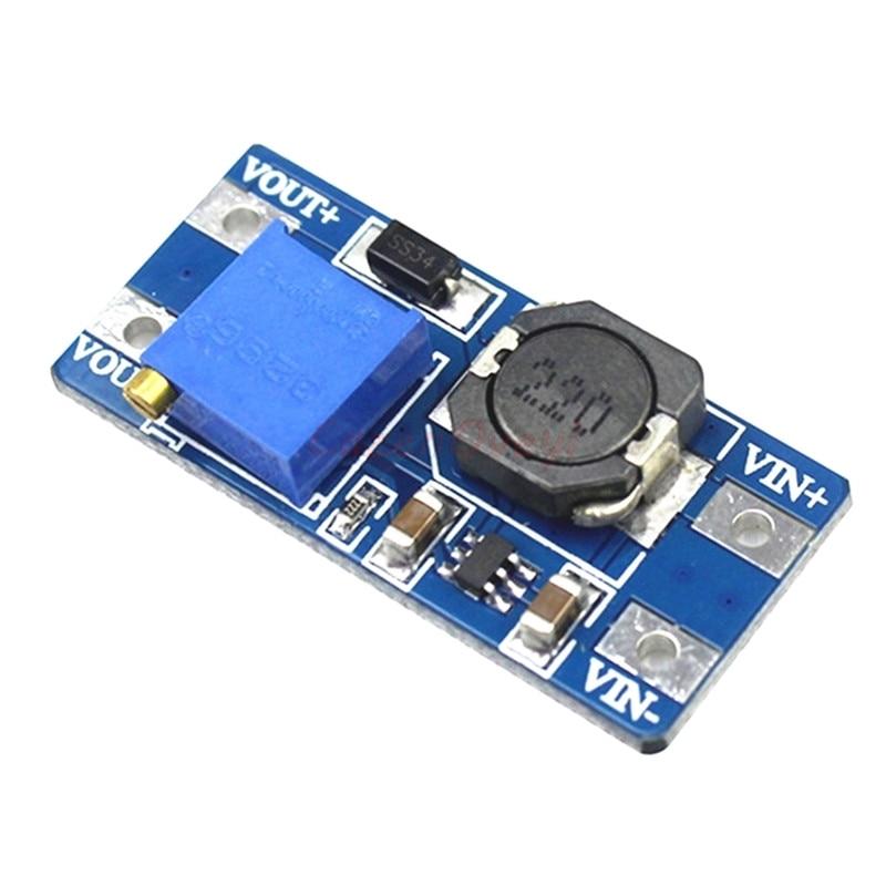 MT3608 DC-DC Einstellbar Boost 2A Boost Platte 2A Schritt Up mit USB 2V - 24V zu 5V 9V 12V 28V LM2577 Auf Lager