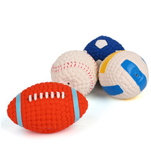 Pet Interactive Ball Toy Rugby Soccer Sound Clean Tooth Dog Training Toys Molar Latex Squeaky Balls Product