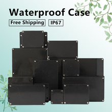Black Box Outdoor Waterproof Case Plastic Box Electronic Project Case Instrument Waterproof Junction Box Housing