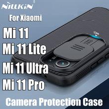 Coque NILLKIN CamShield Pro pour Xiaomi Mi 11 Mi 11 Lite, étui de Protection de l'objectif de la caméra coulissante pour Xiaomi Mi 11 Ultra
