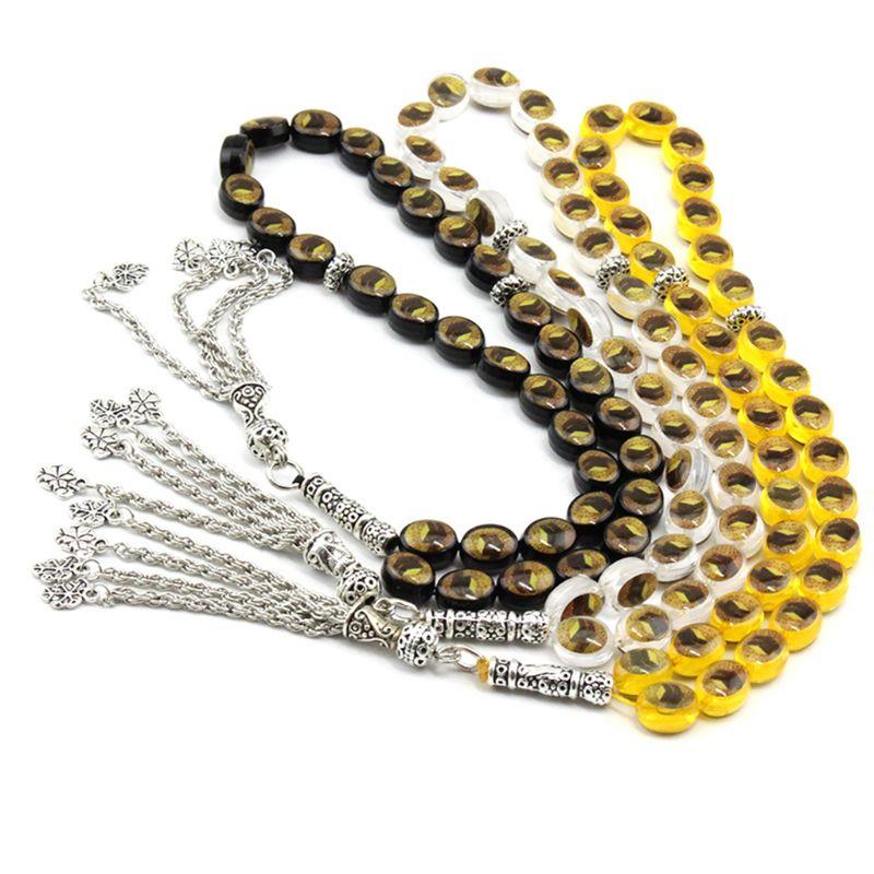 33 Prayer Beads Muslim Islam Worship Rosary Allah Muhammad Tasbih Beaded Chain Bracelet