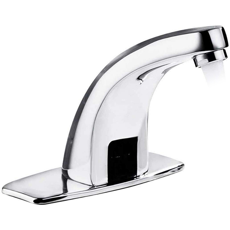 Automatic Infrared Sensing Faucet, Copper Intelligent Non-Contact Sink Faucet, Single Cold Faucet With Control Box In Kitchen Ba