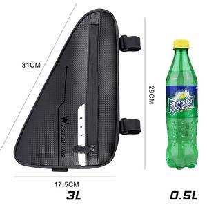 Image 5 - WEST BIKING Waterproof Cycling Tube Bags 3L MTB Road Bike Triangle Bag Cycling Frame Front Bags Repair Tools Pannier Bicycle Bag