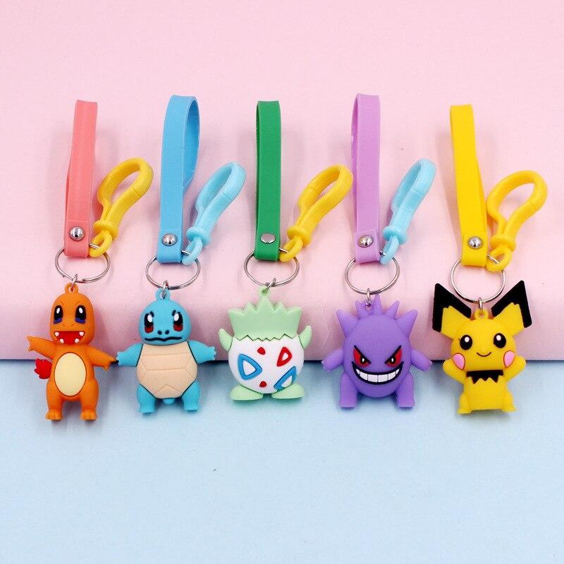 Тренд 2020 года, персональный брелок Pokémon, милый ветер, мультфильм, Пикачу, кукла, брелок, мужские сумки, подвеска, маленький подарок