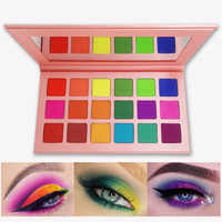 Summer Colorful Eyeshadow Palette Matte 18 Colors Shimmer Blendable Bright Eye Shadow Pallete Silky Powder Pigmented Makeup Kit