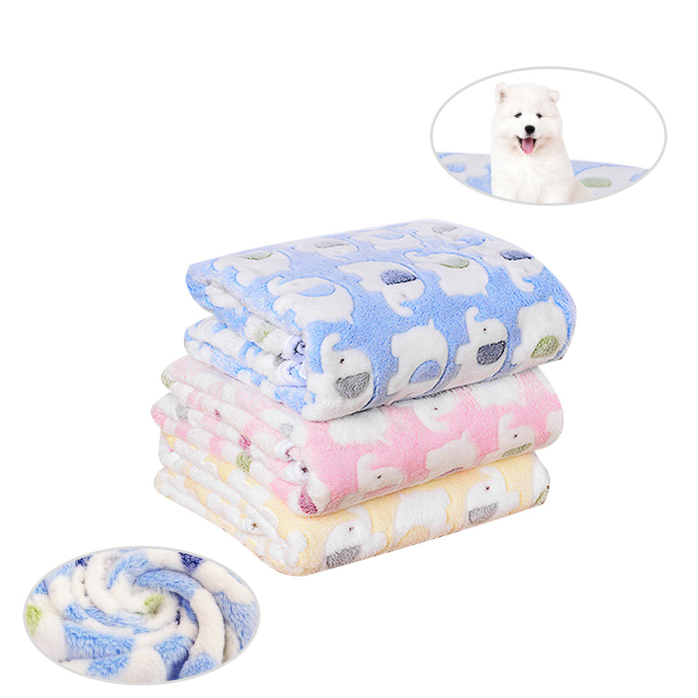 Pets Dog Blanket Puppy Sleep Mat dog beds for small dogs Winter Bath Towel Double Velvet Warm Soft blanket for dogs and cats