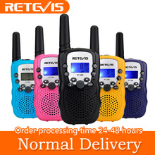 Retevis RT-388 Toy Walkie Talkie 2016 Christmas Gift for Children UHF 446MHz 0.5W 8CH LCD Display Flashlight VOX Moscow Ship