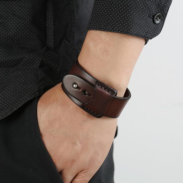 Мужские винтажные браслеты из кожи