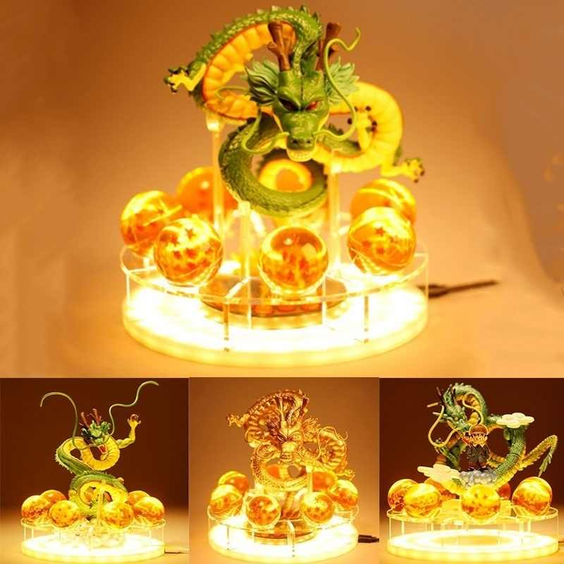 Dragão bola lâmpada shenlong figura de ação shenron dragon ball super goku led night light shenlong anime estatueta coleção presente