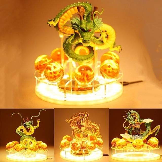 Shenron Shenlong 7 Crystal Balls Shelf Figure Set