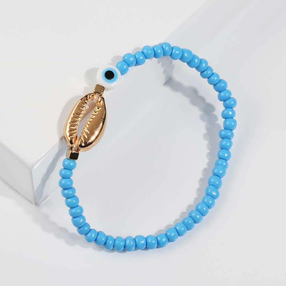 Gold Evil Eye Bracelet Boho bracelets for women  women fashion bracelets 2019 Beads Friendship Bracelet  Handmade Gift For women