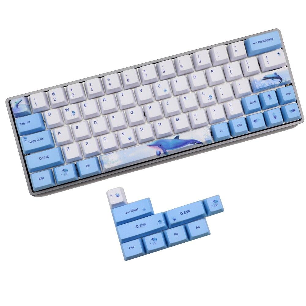 Walvis Keycap 60% Pbt Oem Keycap Set Mechanische Toetsenbord Keycap For A GH60 RK61/ALT61/Annie/Poker Keycap GK61 GK64 Dz60