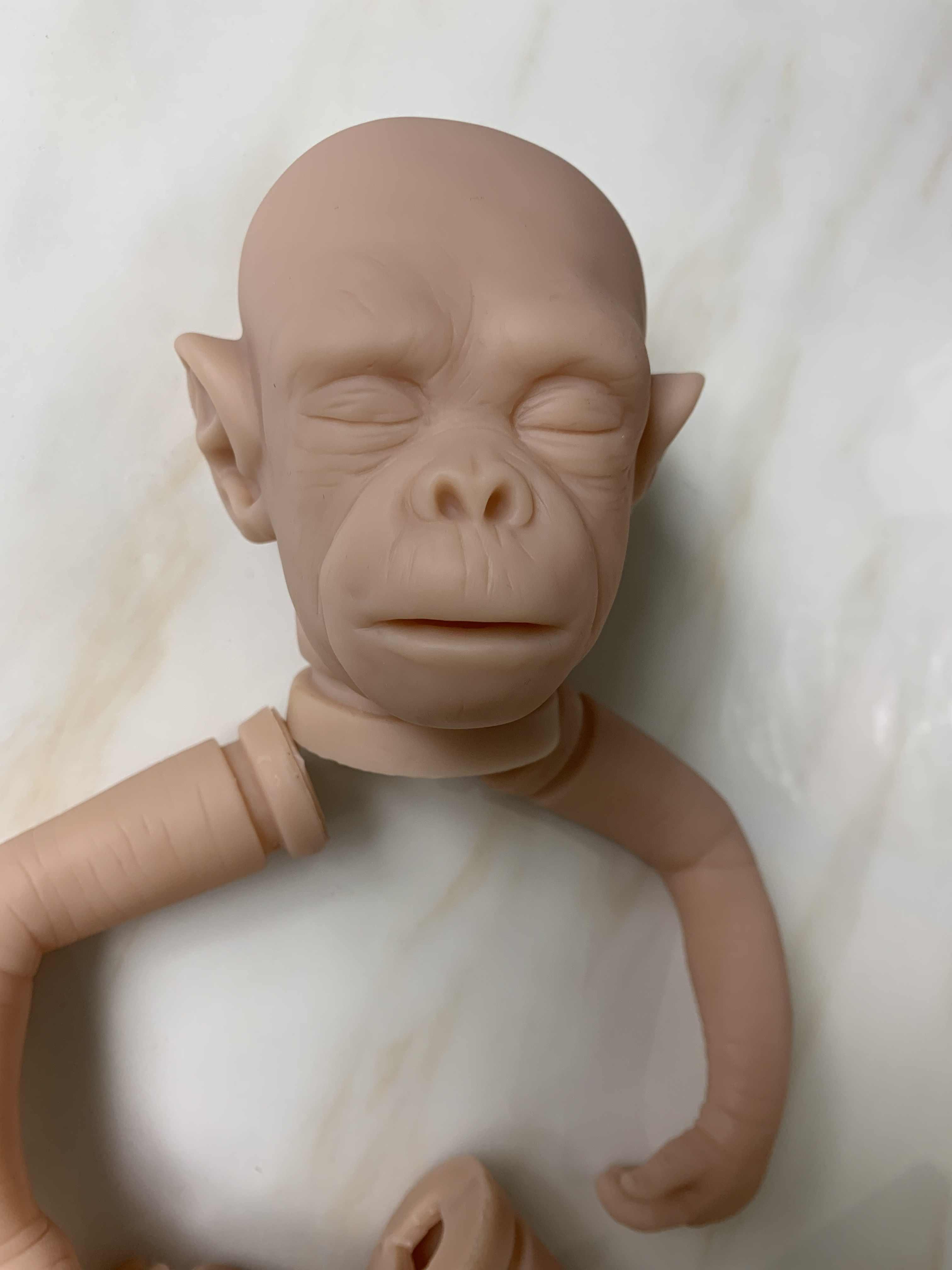 Kit de muñecas reborn aap orangutanes realista artista hecho sin paitar piezas de muñeca en blanco