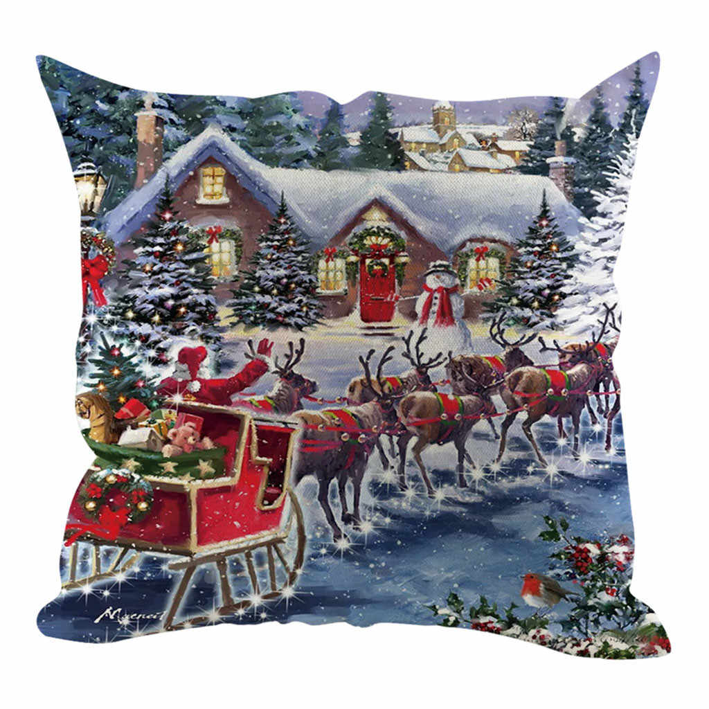 Bantal Case 2020 Baru Natal Dekoratif Sofa Rumah Decorationcushion Cover Housse De Coussin Cojines Kussenhoes