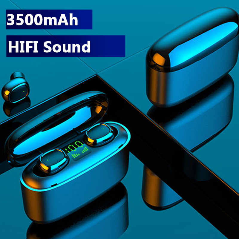 Hembeer Tws Wireless Bluetooth Earphone Touch Headphone HD Stereo Hi Fi Sound Kebisingan Membatalkan Headset untuk Semua Ponsel