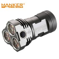 Abverkäufe: Manker MK34 Tasche Flut Taschenlampe 8,000 Lumen 12x CREE XPG3 LED Taschenlampe Verwenden 3x 18650 Batterien