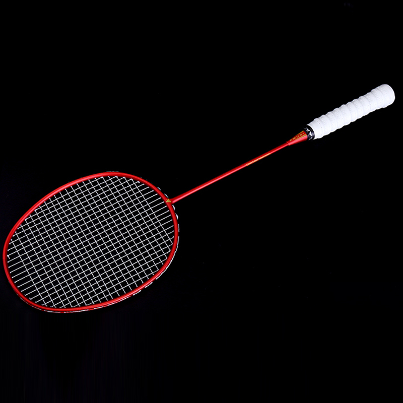 NEW Ultralight 6U Badminton Racket Professional Carbon Portable Free Grips Sports