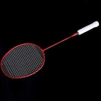 NEW Ultralight 6U Badminton Racket Professional Carbon Portable Free Grips Sports