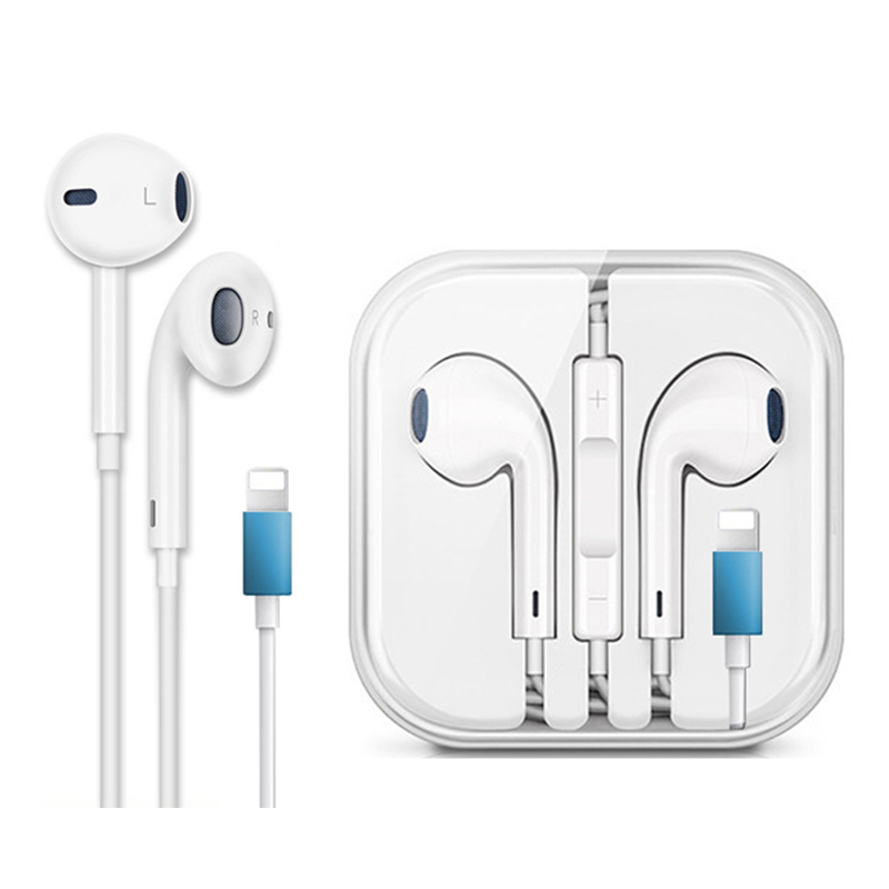 Wired <font><b>Bluetooth</b></font> In Ear <font><b>Earphone</b></font> for iPhone 7 8 Plus X XR XS MAX 11 Pro Max Stereo Sound Earbuds <font><b>with</b></font> <font><b>Microphone</b></font> Wired Control image