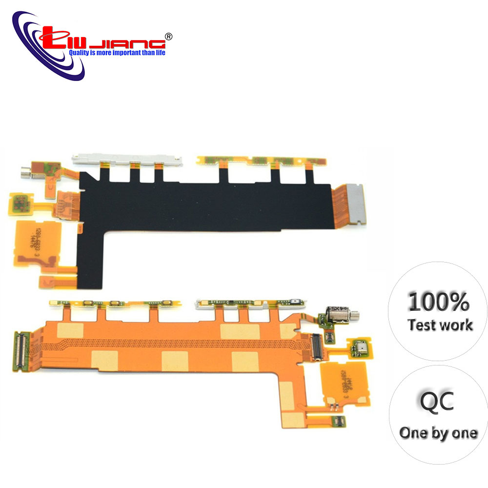 Original Power Button Flex Cable For Sony Z3 D6653 D6603 Volume Switch Microphone Vibrator Replacement Repair Parts
