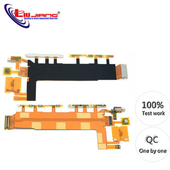 цена на Original Power Button Flex Cable for Sony Z3 D6653 D6603 Volume Switch Microphone Vibrator Replacement repair parts