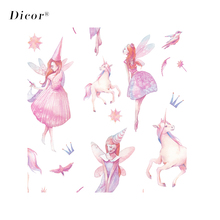 45/90*200CM DICOR Pink Fairy Glass Sticker Opaque Privacy Window Film For Home Decor BLT2164KJ