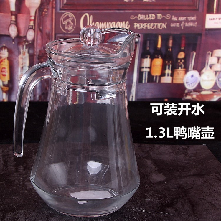 Glass-Jar Juice-Cup Cold-Water-Pot Bing Hu Beer-Jar Large-Volume-Juice Shui Heat-Resistant title=