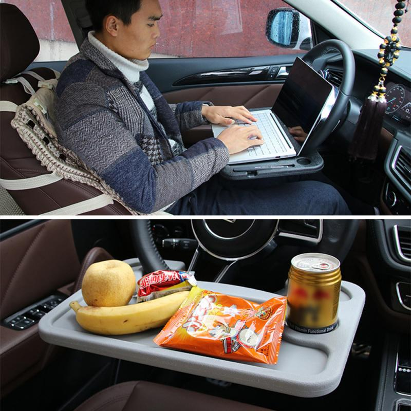 Universal <font><b>Car</b></font> Laptop Stand <font><b>Notebook</b></font> Desk Steering Wheel Tray <font><b>Table</b></font> Shelves Food Drink Holder Mounts Auto Interior Accessories image