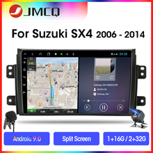 JMCQ Android 9.0 T3L K11 Car Radio Multimedia Player For Suzuki SX4 2006-2014 GPS Navigaion 2 Din Stereo Split Screen with Frame hactivol 9 car radio for suzuki sx4 2006 2012 fiat sedici 2006 2010 android 7 0 1 car dvd player with bluetooth 1g ram 16g rom