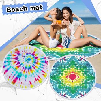 Ręcznik plażowy okrągły drukowany ręcznik plażowy z mikrofibry szal ręcznik plażowy mata plażowa ręcznik kąpielowy szyfonowa gobelin ręcznik kąpielowy D4 tanie i dobre opinie CN (pochodzenie) Z tworzywa sztucznego