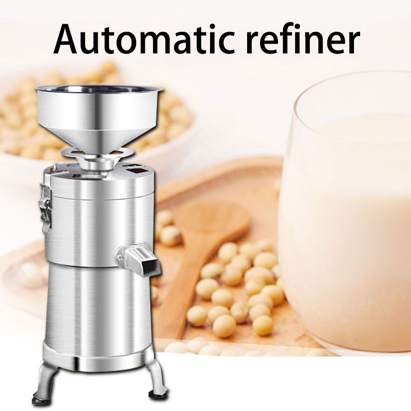 Large Capacity Commercial Soya-bean Milk Machine Household Stainless Steel Refiner Freshly Ground Tofu Machine Slurry Separation