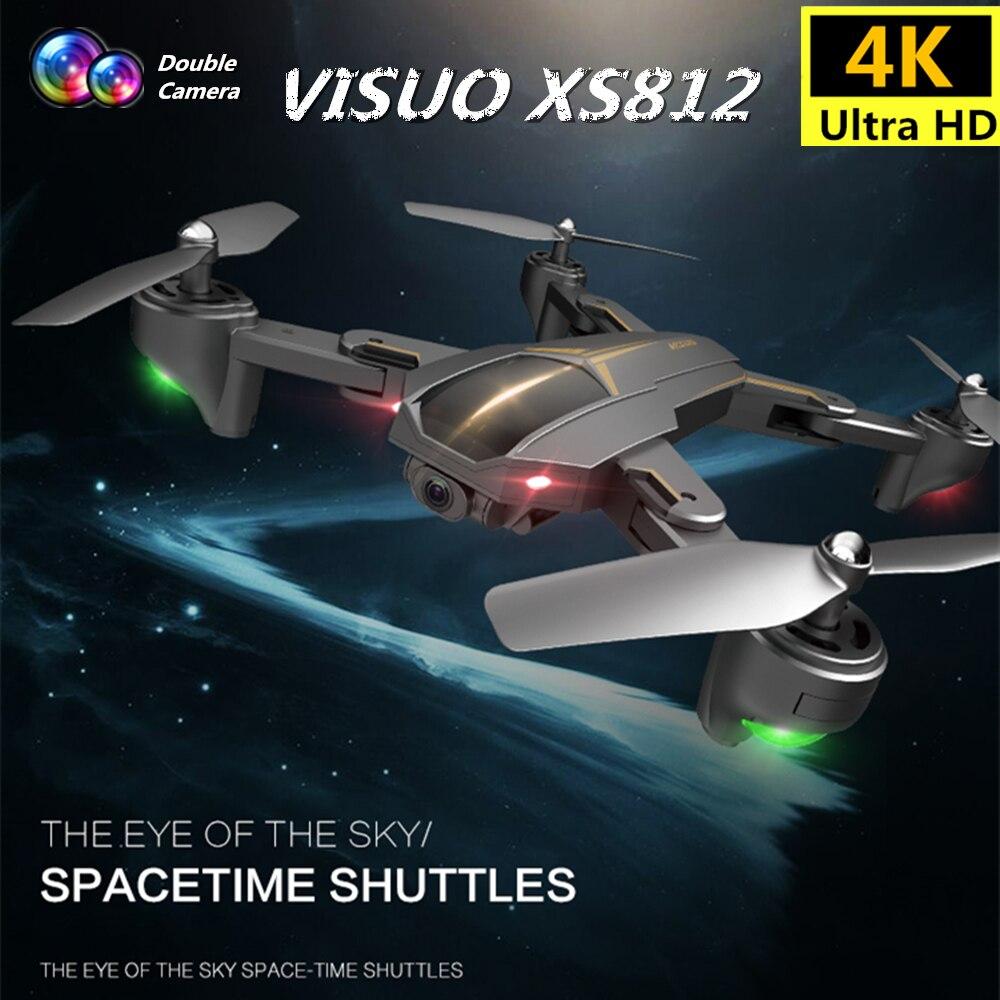 VISUO XS812 GPS Drone con cámara 4K 5G FPV RC helicóptero de altitud mantener Quadcopter Sígueme Quadrocopter VS SJRC Z5 F11 Dron-in Helicópteros RC from Juguetes y pasatiempos    1
