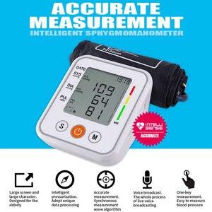 Image 5 - אוטומטי רפואי עליון זרוע שרוול מד לחץ דם צג חכם מכונה Bp קצב לב Tonometer מד לחץ דם Tensiometer
