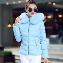 Пуховое пальто для женщин, облегающие зимние куртки для женщин, новинка, меховой воротник, с капюшоном, теплый женский пуховик, верхняя одежда, зимнее пальто, женская куртка