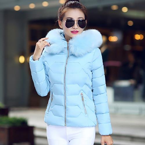 Down     coat   female slim winter jackets women 2019 new fur collar hooded warm women   down   jacket outerwear winter   coat   women jacket