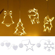 Newest LED Christmas Hanging Curtain Lights String Net Xmas Home Party Home Decor for Bedroom Wall Wedding Backdrop Patio(China)